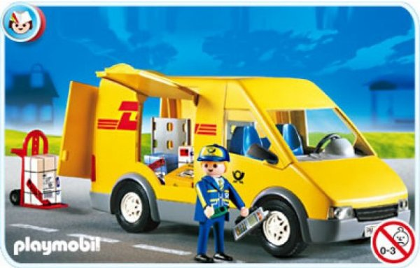17b service au public 4401 camionnette du coursier dhl photo archive article playmobil. Black Bedroom Furniture Sets. Home Design Ideas
