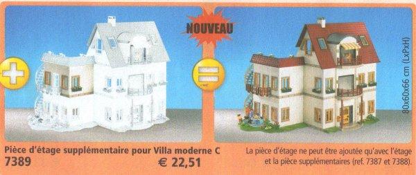 9 maison moderne 7389 pice dtage supplmentaire pour 4279 - Playmobil Maison Moderne 4279