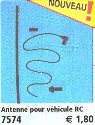 0A RADIOCOMMANDE & ÉLECTRIQUE 7574 antenne pour véhicule radio commandé