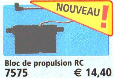 0A RADIOCOMMANDE & ÉLECTRIQUE 7575 bloc propulsion pour véhicule radio commandé
