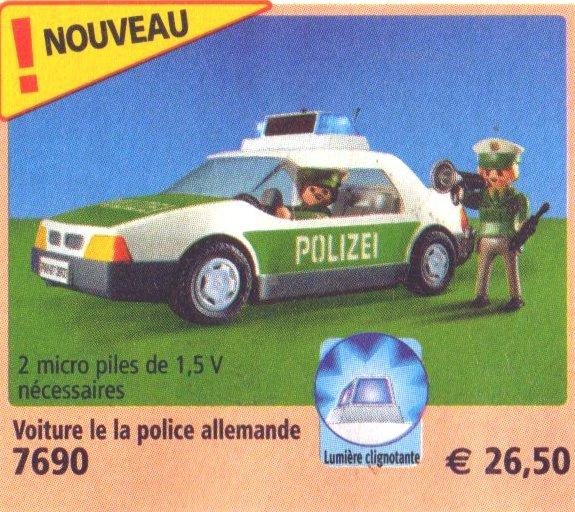 25 police allemande v hicules 7690 voiture de police et policiers photo archive article playmobil. Black Bedroom Furniture Sets. Home Design Ideas