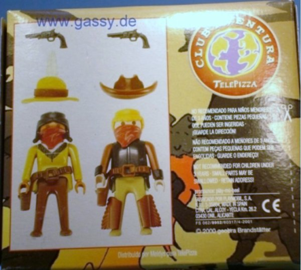 "07B COWBOYS SHERIFF & BANDITS HORS SERIE ""télépizza"" COW BOYS"