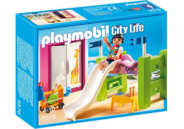 09 maison moderne luxe 5579 chambre d enfant avec lit mezzanine photo archive article playmobil - Chambre d enfant de luxe ...