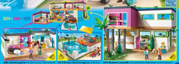 Playmobil Maison Moderne 2014 : Maison moderne luxe studio des invités photo