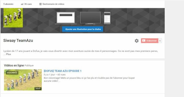 CHAINE YOUTUBE!