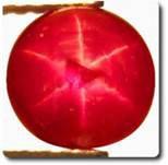 rubis rouge étoilé