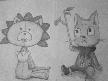 dessin de kon et happy!!