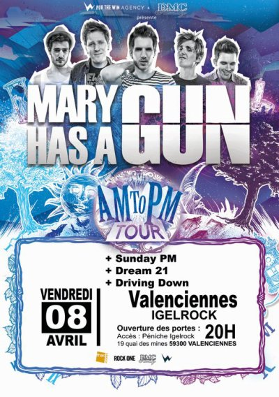 MC et Forthe Winagency présentent : ★ MARY HAS A GUN ★ à Valenciennes!!!+ GUESTS