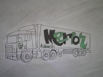 Le camion que j'ai fait pour Marion ma sister <3