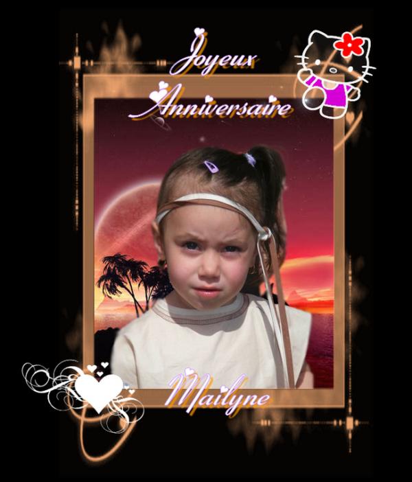 ♥..........0°°oo ♥ Joyeux Anniversaire Mailyne ♥ oo°°0..........♥