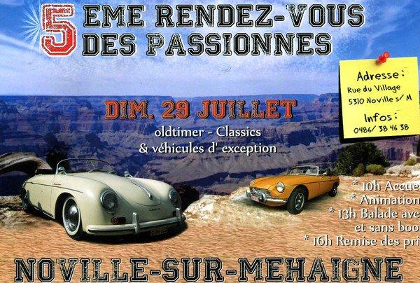 5ème RENDEZ-VOUS DES PASSIONNES - dimanche 29 juillet 2012