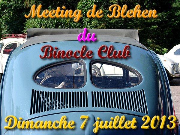 MEETING DE BLEHEN - Le dimanche 7 juillet 2013