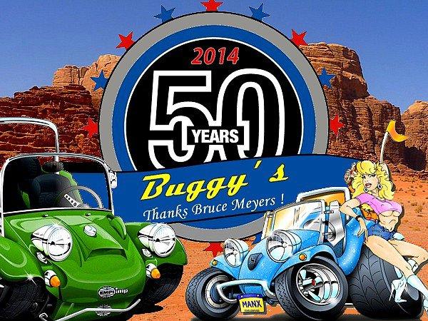 BRUCE MEYERS AU BUG SHOW POUR LES 50 ANS DES BUGGYS