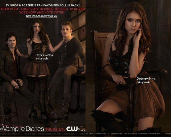 . Vampires Diaries : Nouveau. Shoot promotionnelle de Nina pour Vampire Diaries.  .