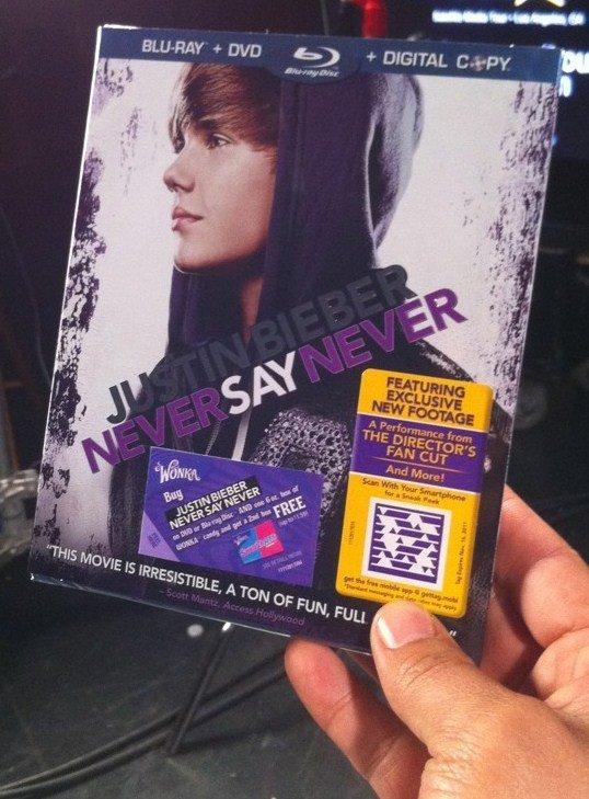 Sortie de Never Say Never en DvD aux USA et au Canada .