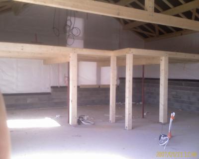 Mezzanine toujours construction de notre maison ossature bois - Fabrication mezzanine bois ...