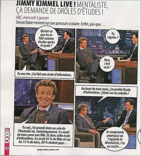 Interview de Simon Baker.