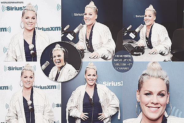 P!nk dans l'émission the morning mash up on sirius xm hits 1 channel