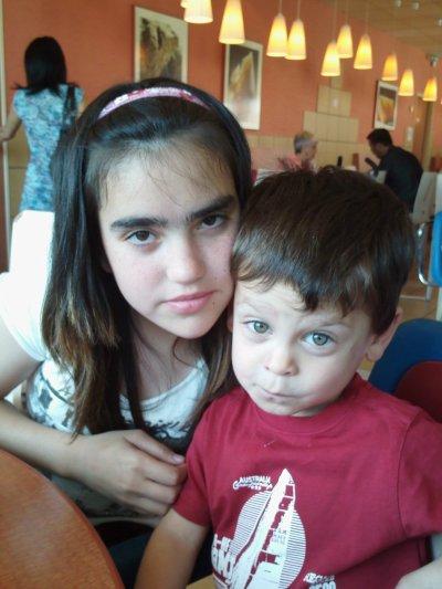 mon petit fils et ma fille