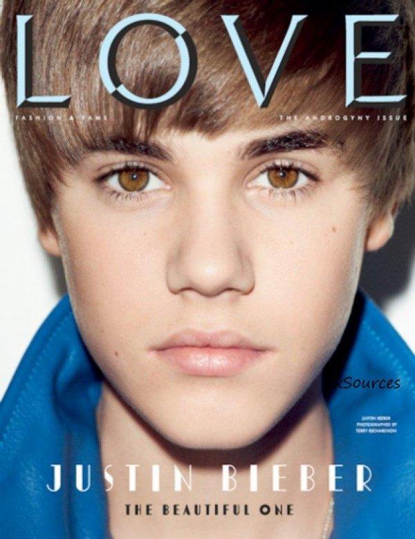 Justin Bieber est maintenant un habitué des couvertures des magazines ! Pourtant, certaines couv' sont plus belles que les autres. C'est le cas de celle du magazine LOVE...