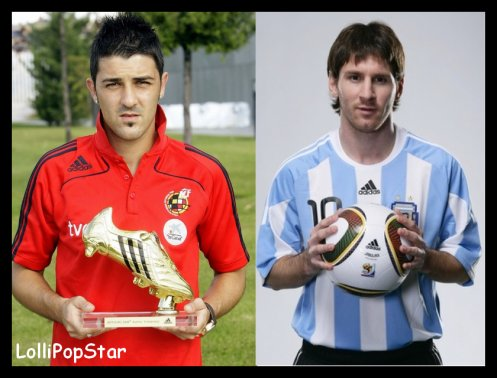 DAVID VILLA VS LIONEL MESSI