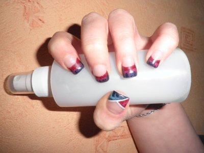 Mes ongles : Le marbré