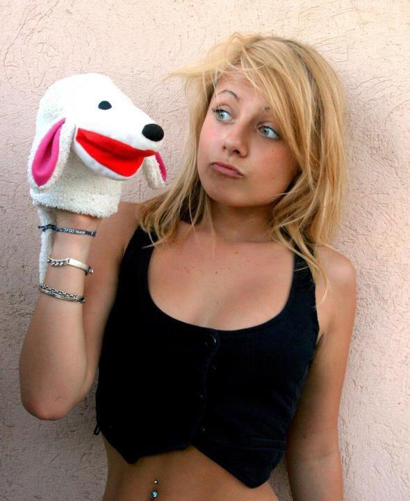Moi avec une marionette ;D