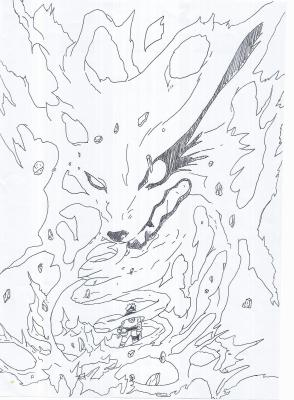 Dessin 5 naruto ky bi - Naruto kyubi dessin ...