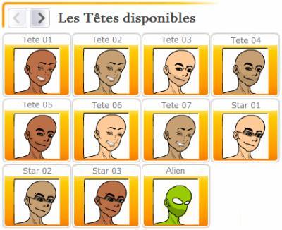 Avatar : Têtes