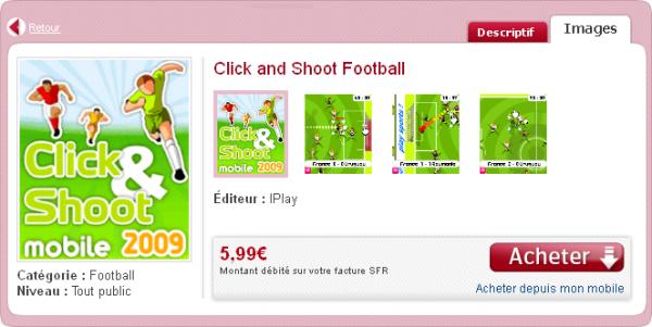 Téléchargement de Click Shoot Mobile (SFR)