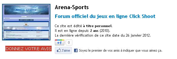 Forum Arena-Sports (WebRankInfo)