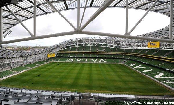 Aviva Stadium, l'actuel stade de l'Irlande à Dublin (1/2)