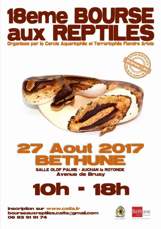 Bourse reptiles Bethune