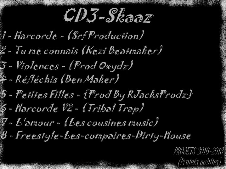 CD3-Skaaz / Skaaz - Harcorde V2 - (Tribal Trap) (2018)