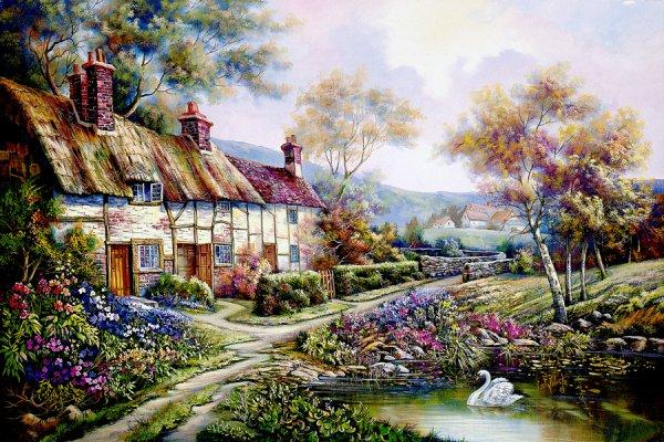Ces jolis villages anciens au printemps.