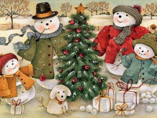 Les joyeux bonhommes de neige!