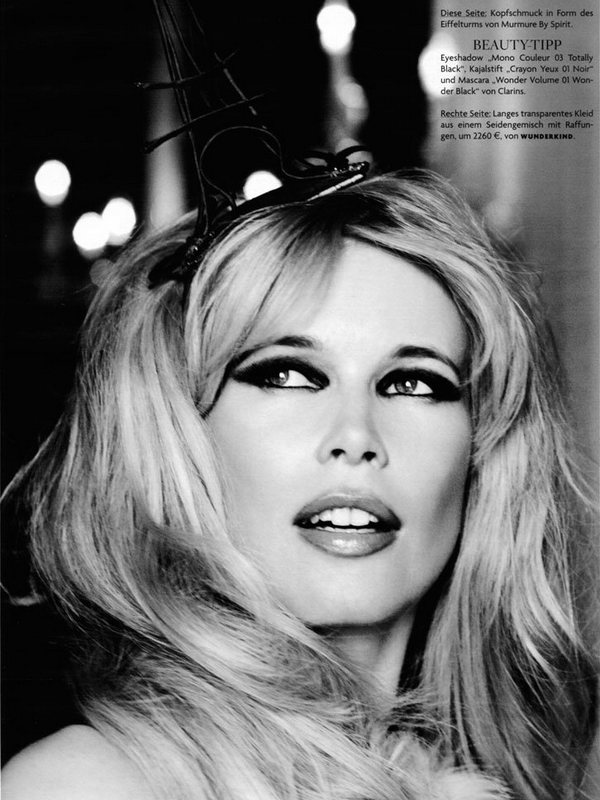 Claudia Schiffer for Vogue Germany  ( 2010 )
