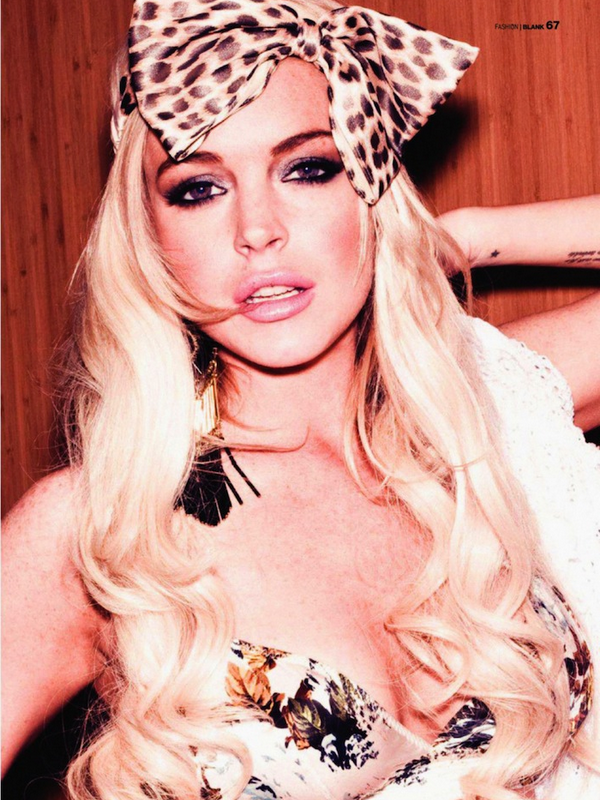 Lindsay Lohan for Blank Magazine ( May 2011 )