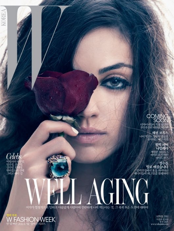 Mila Kunis for W Korea ( April 2011 )