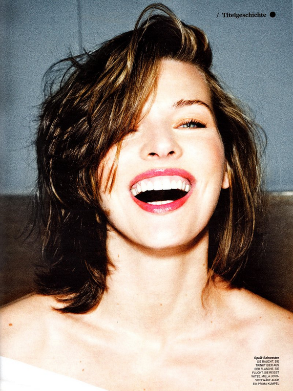 Milla Jovovich for GQ Germany ( September 2010 )