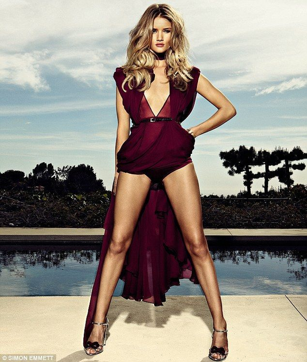 Rosie Huntington-Whiteley for GQ Magazine ( July 2011 )