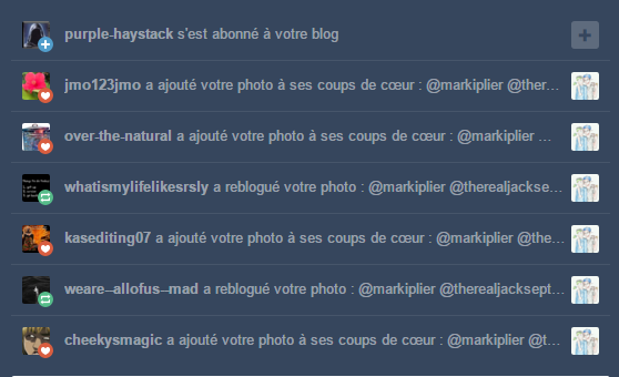 Septiplier sur tumblr = I'M SO FAMOUS