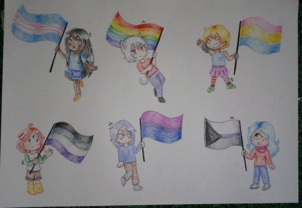 Drapeaux LGBT+