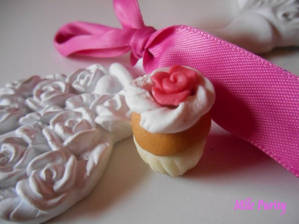 "Cup-Cake ""rose et chantilly"""