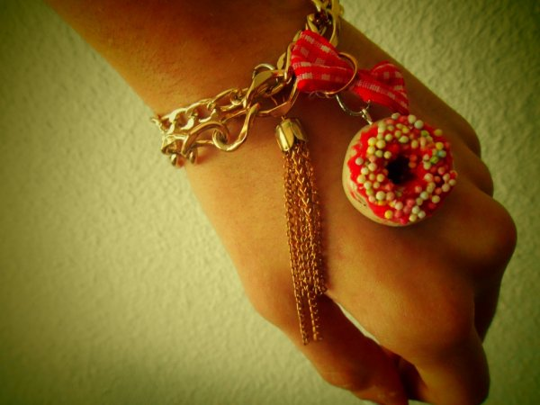 "Bracelet double chaîne""donut"""