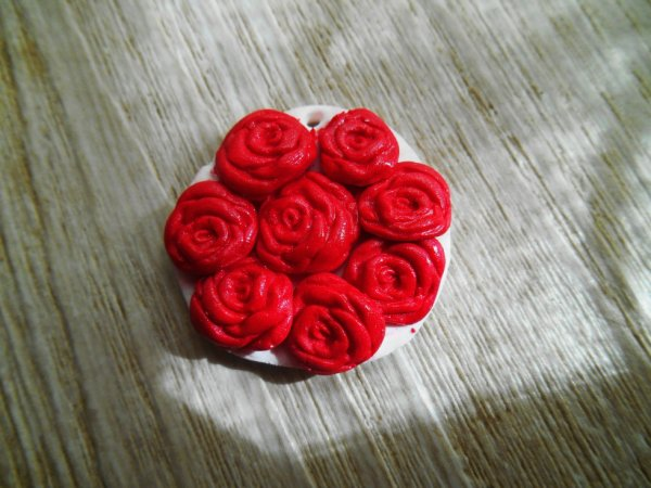 "Pendentif "" Roses rouges """