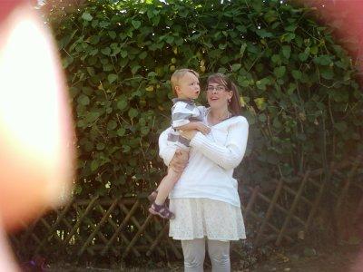 moi et mon cousin a la communion de son frere