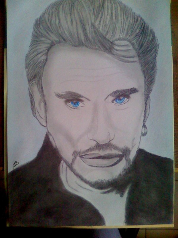 """Portrait Johnny Halliday"""