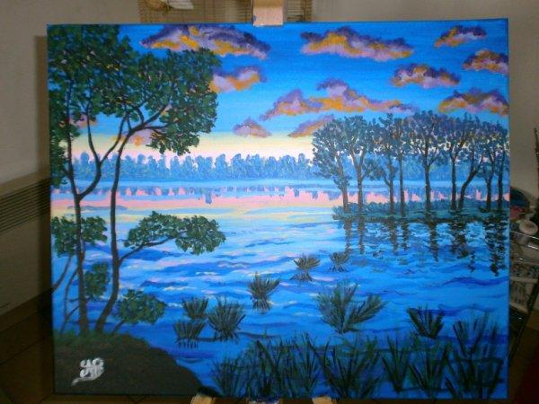 """""""Lac au coucher du soleil"""""""