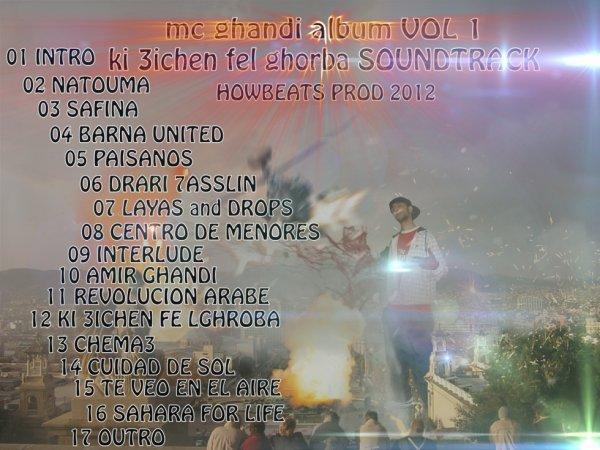 mc ghandi album VOL 1 ki 3ichen fel ghorba  HOWBEATS PROD 2012